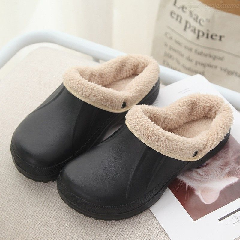 Mens Warm Winter Home Fleece Slippers Comfy Slip-on Shoes