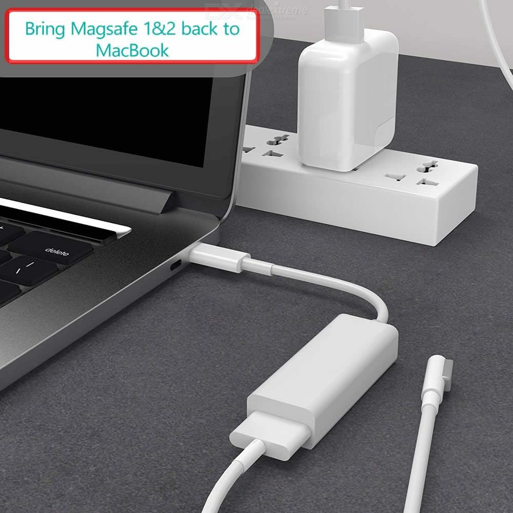 USB-C Magsafe Adapter, Type-C to Magsafe 1 and 2 Converter Charger Adapter, Compatible with New MacBook and Any USB C Devices