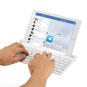 B908 Bluetooth Wireless Keyboard Mini Portable Keyboard With Phone Stand Pairs With 2 Devices