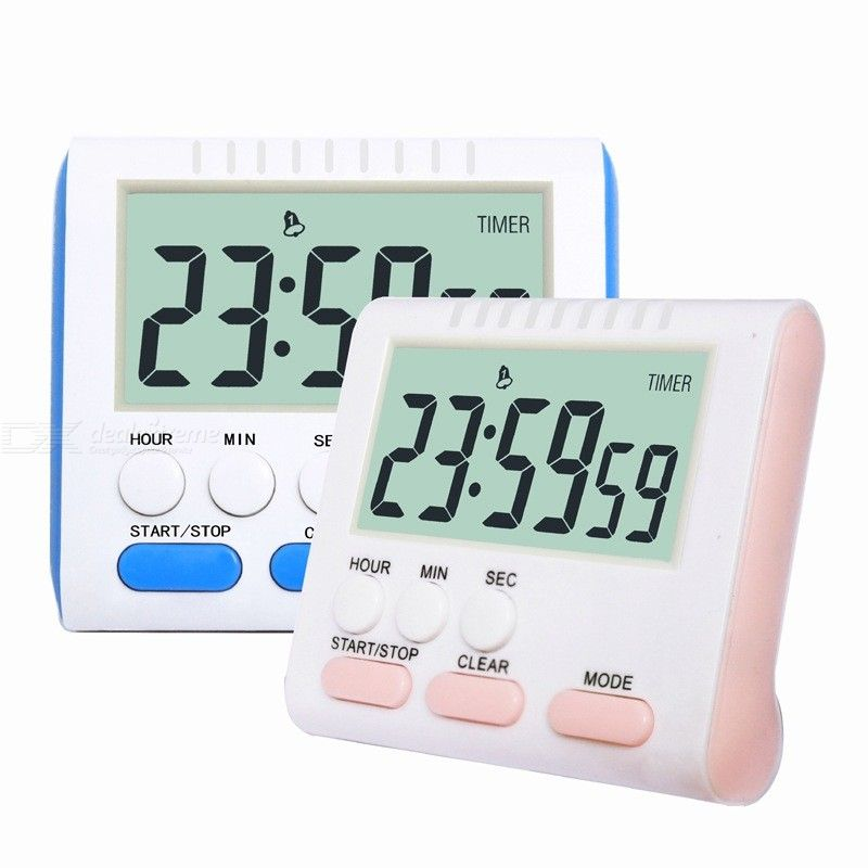 Magnet And Stand Large Display Kitchen Timers For Baking Study Beauty Home Digital Time Counting Down Reminder - Maxi 24 Hours