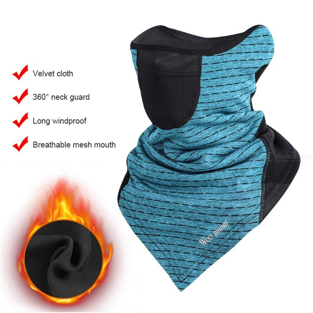 WEST BIKING Soft Fleece Neck Wrap Warmer Face Mask For Cold Weather Winter Outdoor Sports