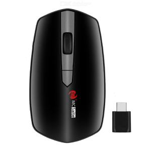 MC-369AG Wireless Mouse Ultra Slim Optical Mouse 3 DPI Levels W/Type-C Nano Receiver