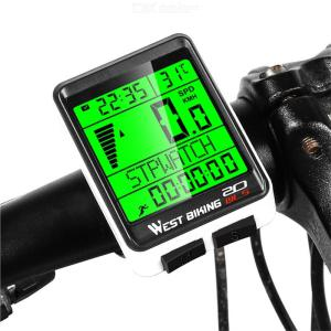 WEST BIKING Bike Computer Wireless Waterproof Cycling Computer With Backlight Large HD LCD Screen Display Bicycle Speedometer