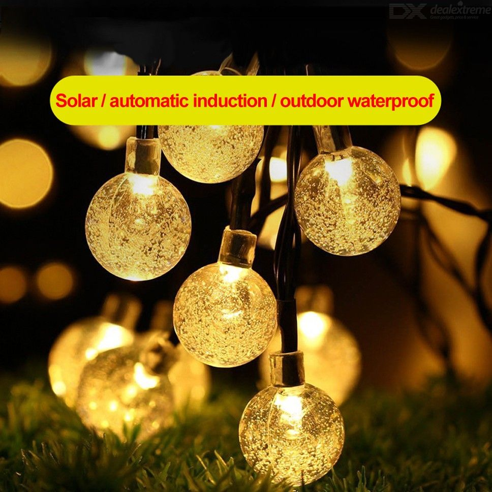 Christmas Solar String Light 7M 50LED Outdoor Waterproof Crystal Ball Fairy Lighting String Light For Landscape Garden Holiday