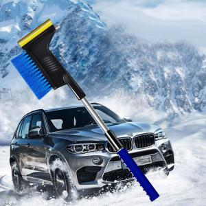 34 Inch Extendable Snow Brush Multifunctional Snowbrush With Ice Scraper And Window Breaker