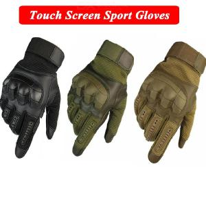 Outdoor Tactical Rubber Hard Knuckle Gloves Touch Screen Full Finger Gloves For Motorbike Climbing Cycling
