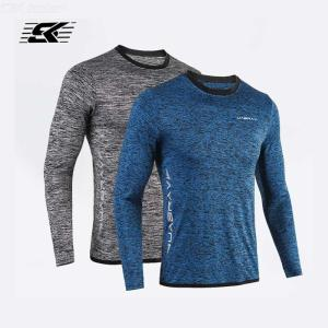 Mens Long Sleeve Exercise Running Shirts Cool Quick Dry Workout T-Shirts