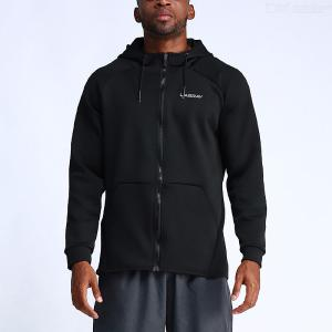Men Full Zip Workout Training Hoodie Fitness Exercise Jacket With Pockets