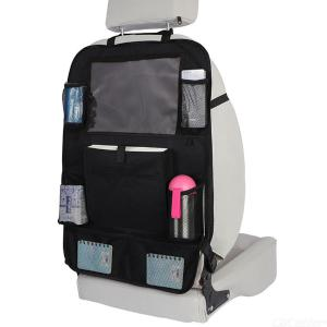 Backseat Car Organizer Multifunctional Durable Back Seat Protector With Clear Tablet Holder And Multiple Pockets