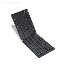 MC-B047 Foldable Bluetooth Keyboard Ultra Slim 64-Key Bi-Fold Wireless Keyboard For Smartphone Tablet