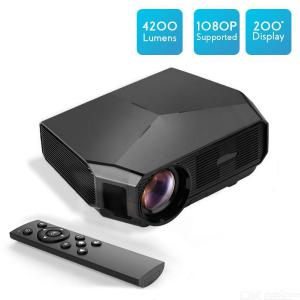 Transjee A4300 Projector 3200 Lumens 1080P Office Projector 23 Languages Home Theater Video Projector EU Plug