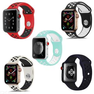 Apple Watch Silikonband Für Apple Serie 1 2 3 4 44 Mm 42mm 40 38mm Zweifarbenband Armband