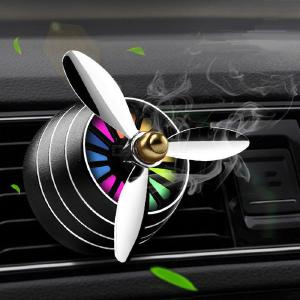 Car Diffuser Vent Clip Creative Propel Aromatherapy Air Freshener With LED  Light