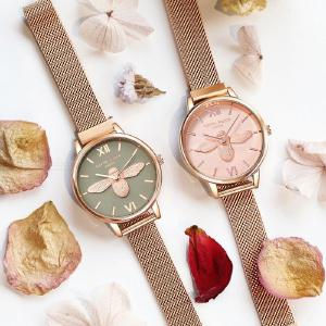 Womens Bee Relief Watch Casual Elegant Large Dial Wristwatch