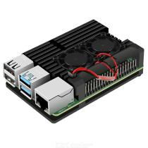 Aluminium-Alloy-Cooling-Case-with-Dual-Cooling-Fans-for-Raspberry-Pi-4B-(No-Pi)