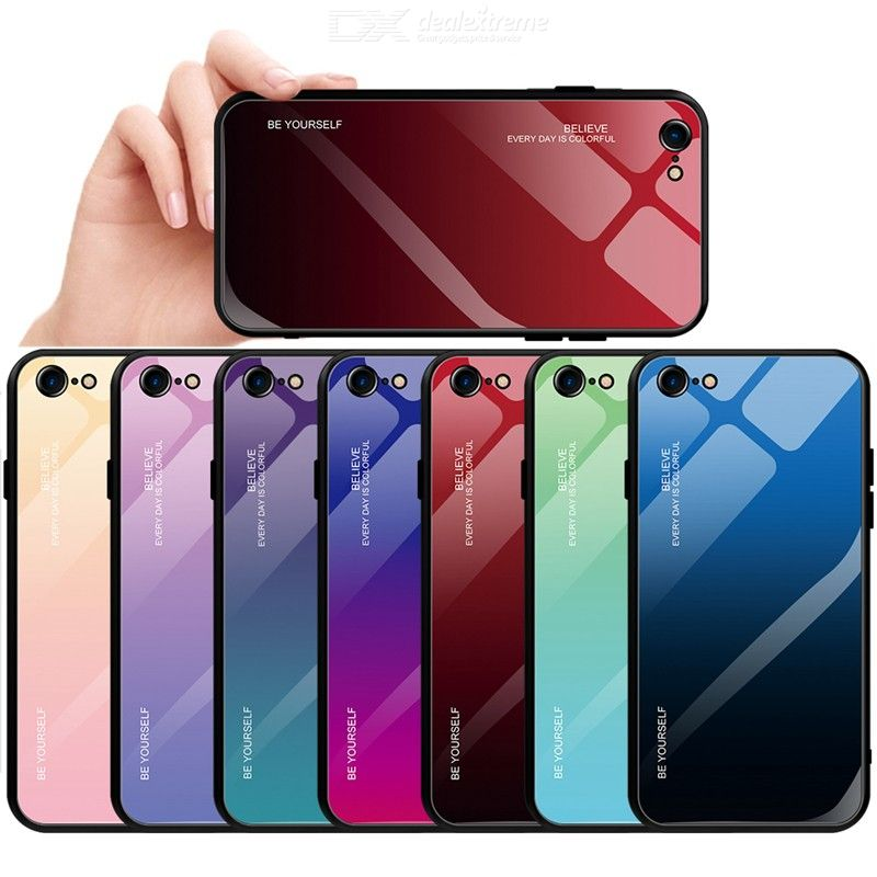 Gradient Tempered Glass Case, Full Protective Cover For iPhone 11 Pro Max iPhone 6 6s 7 8Plus X XR Xs Max