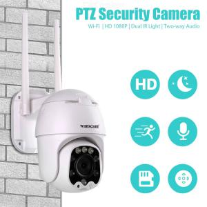 Wanscam K48C 2.0MP Smart Wireless IP Camera, 1080P Waterproof 4X Digital Zoom Two Way Audio Remote Control Surveillance Camera