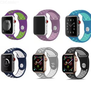 Apple Watch Silicone Strap for Apple Series 1 2 3 4 44mm 42mm 40 38mm Two-Color Band Bracelet