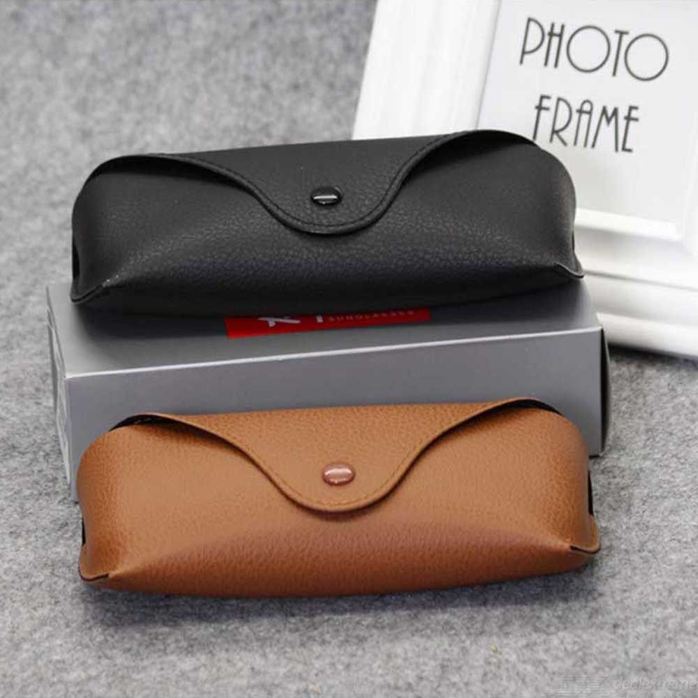 Portable Eyeglasses Soft Leather Pouch For Sunglasses Organizer Case