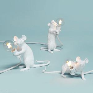 Modern Decorative Lamp E12 Resin Mouse Lighting For Home Bedroom Study