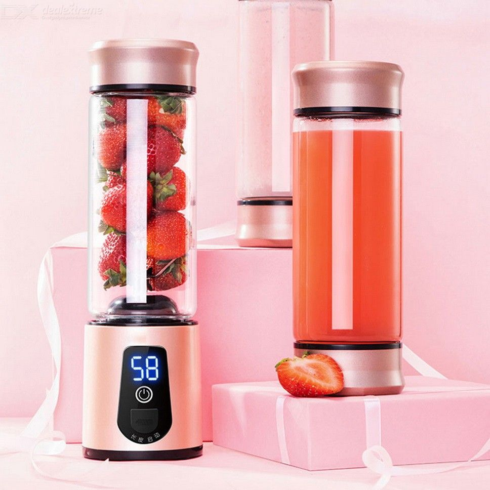Personal Blender Mini Portable USB Rechargeable Electric Juicer Cup Fruit Mixer Smoothie Maker, 450ml