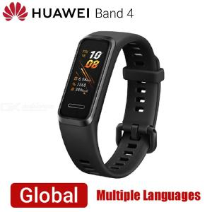 Huawei Band 4 Smart Band Global Vesion Heart Rate Health Fitness Tracker USB Powered - Black