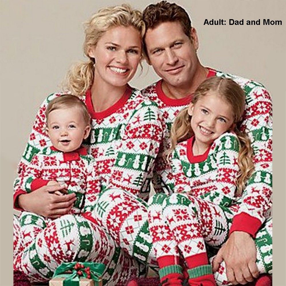 Sleepwear | Christmas | Pajamas | Family | Pajama | Cotton | Adult | Print | Set
