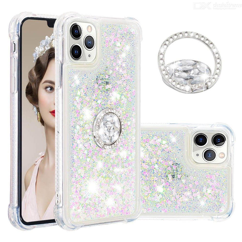 Colorful Liquid Case Soft Silicone Ring Back Cover For iPhone 11 Pro Max XR XS MAX 6S 6 7 8 Plus Coque Funda