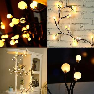 Creative Christmas Light Strings 72LED Twig Lighted Branch For Home Holiday Decoration