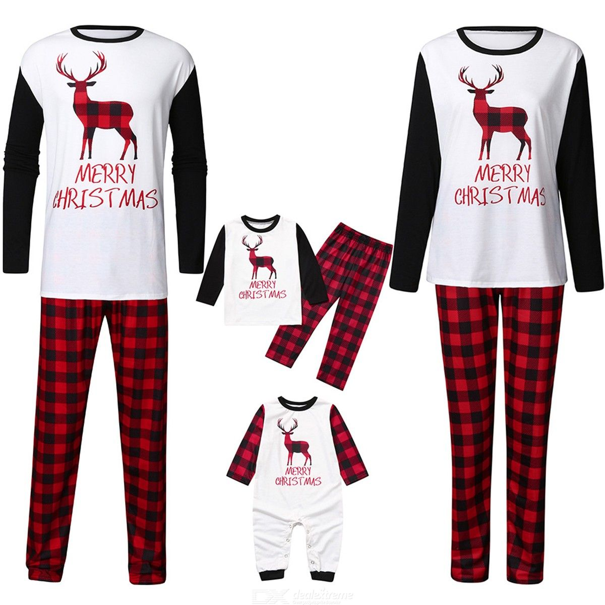 Nightwear | Christmas | Jumpsuit | Pajamas | Family | Romper | Pajama | Cotton | Sleeve | Print | Baby | Long | Kid | Set