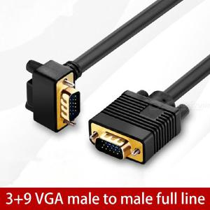 VGA Male To Male Video Coaxial Monitor Cable 15Pin VGA Angled Adapter Cable