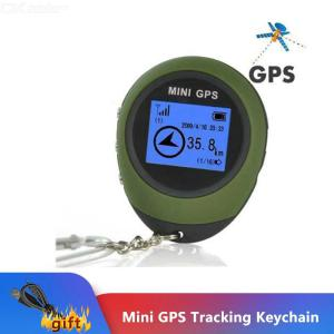 Mini USB Rechargeable GPS Tracker Handheld Finder With Keychain For Outdoor Hiking Camping