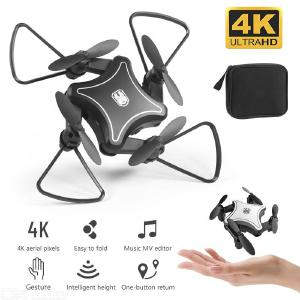 KY902 Mini Folding UAV RC Drone with 4K HD Video Camera 4-axis RC Quadcopter