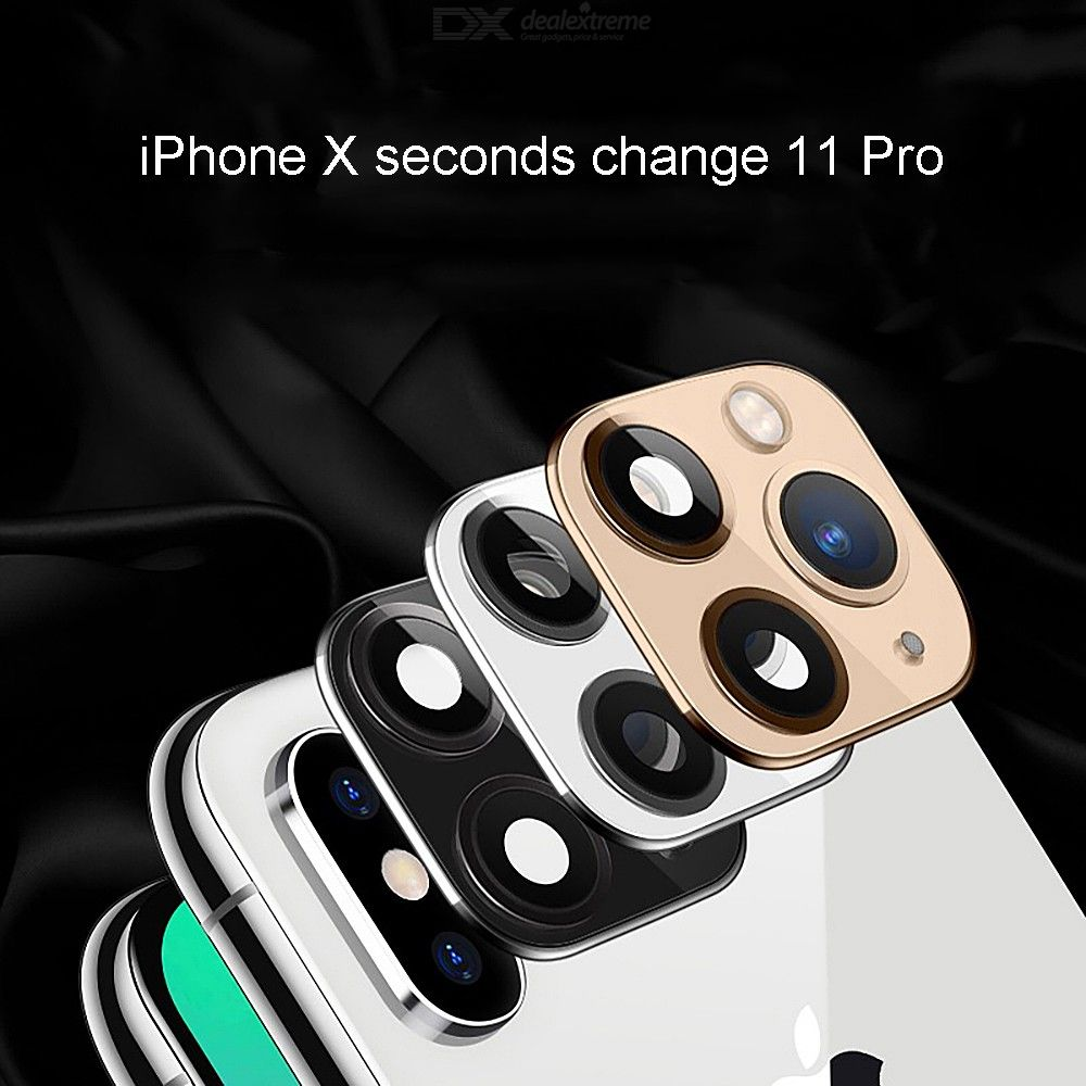 Tempered Glass Modified Fake Camera Lens Cover Protector For IPhone X / XS / XS MAX Change To IPhone 11 Pro