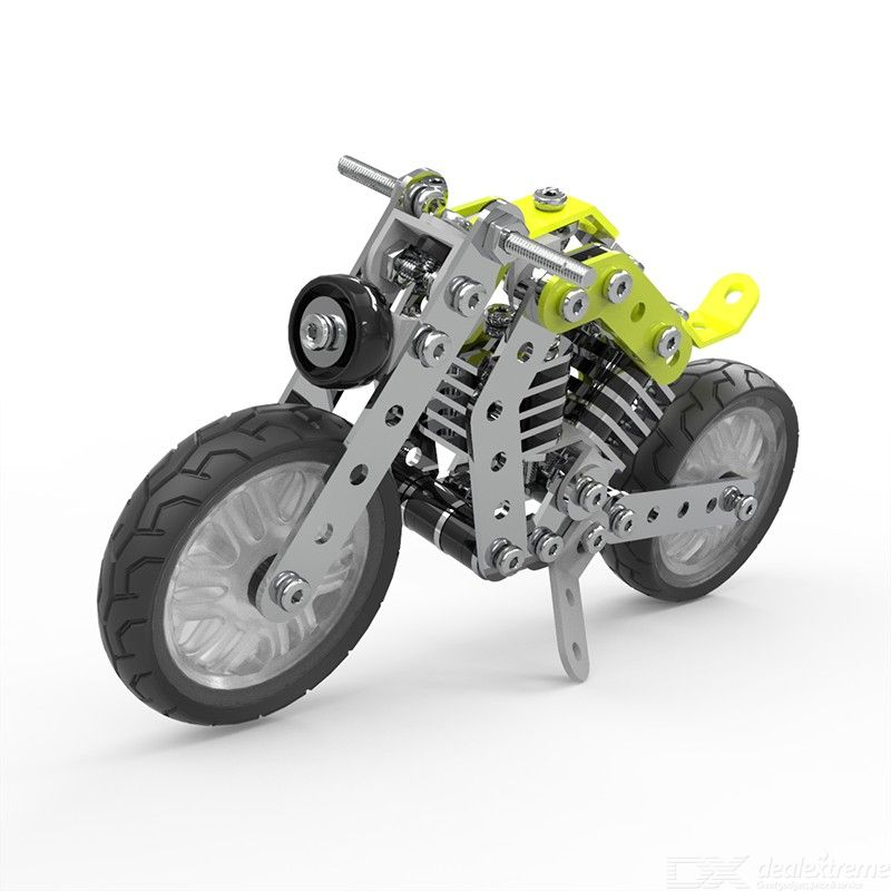 DIY Stainless steel Motorcycle 158PCS alloy assembled blocks puzzle toys