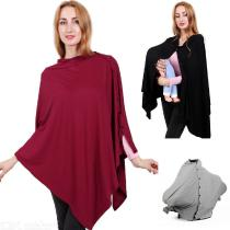 Multi-Use-Baby-Nursing-Breastfeeding-Cover-Scarf-Soft-Stretchy-Shawl-Poncho-Tops-With-Buttons