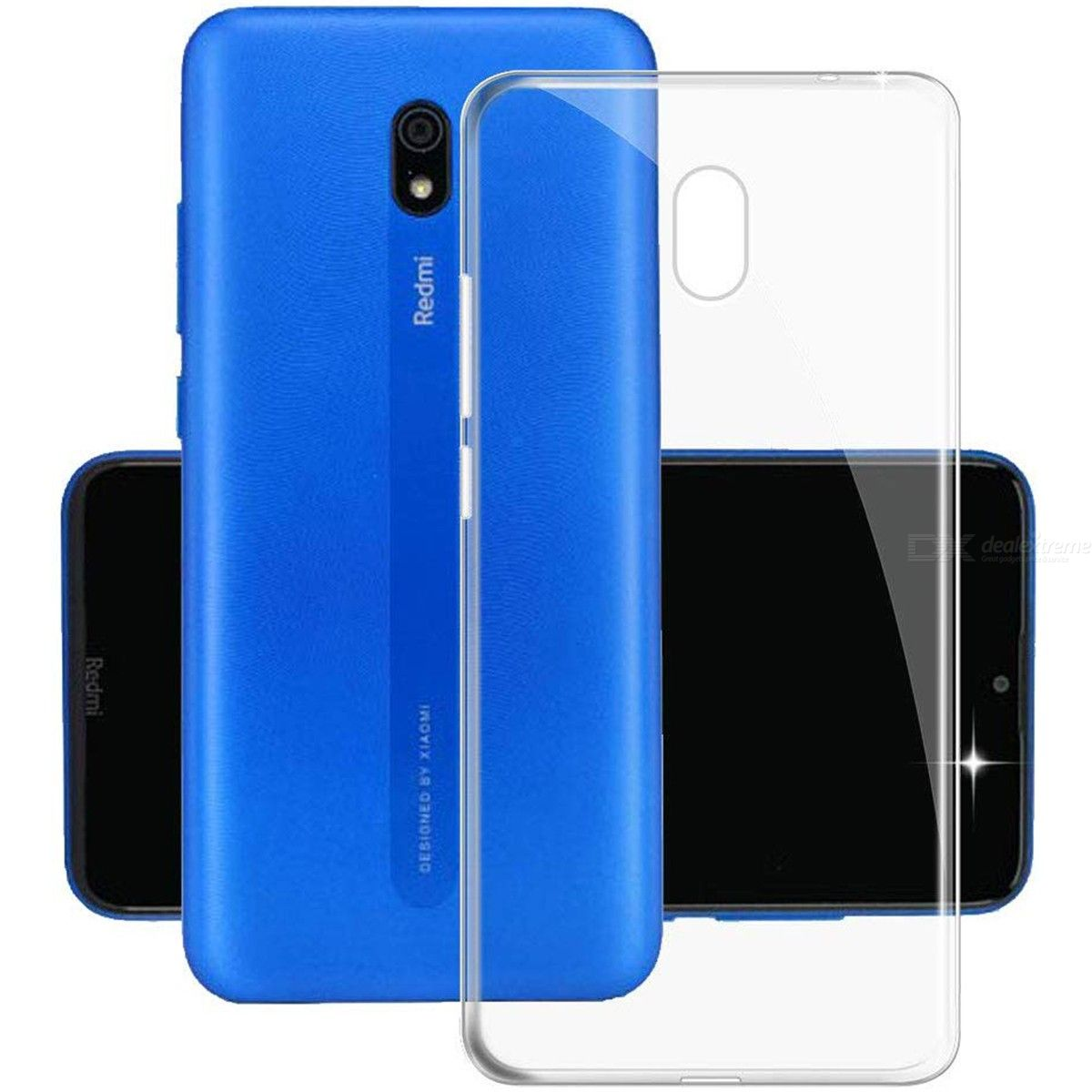 ASLING Ultra Thin Soft TPU Back Cover Protective Phone Case for Xiaomi Redmi 8A