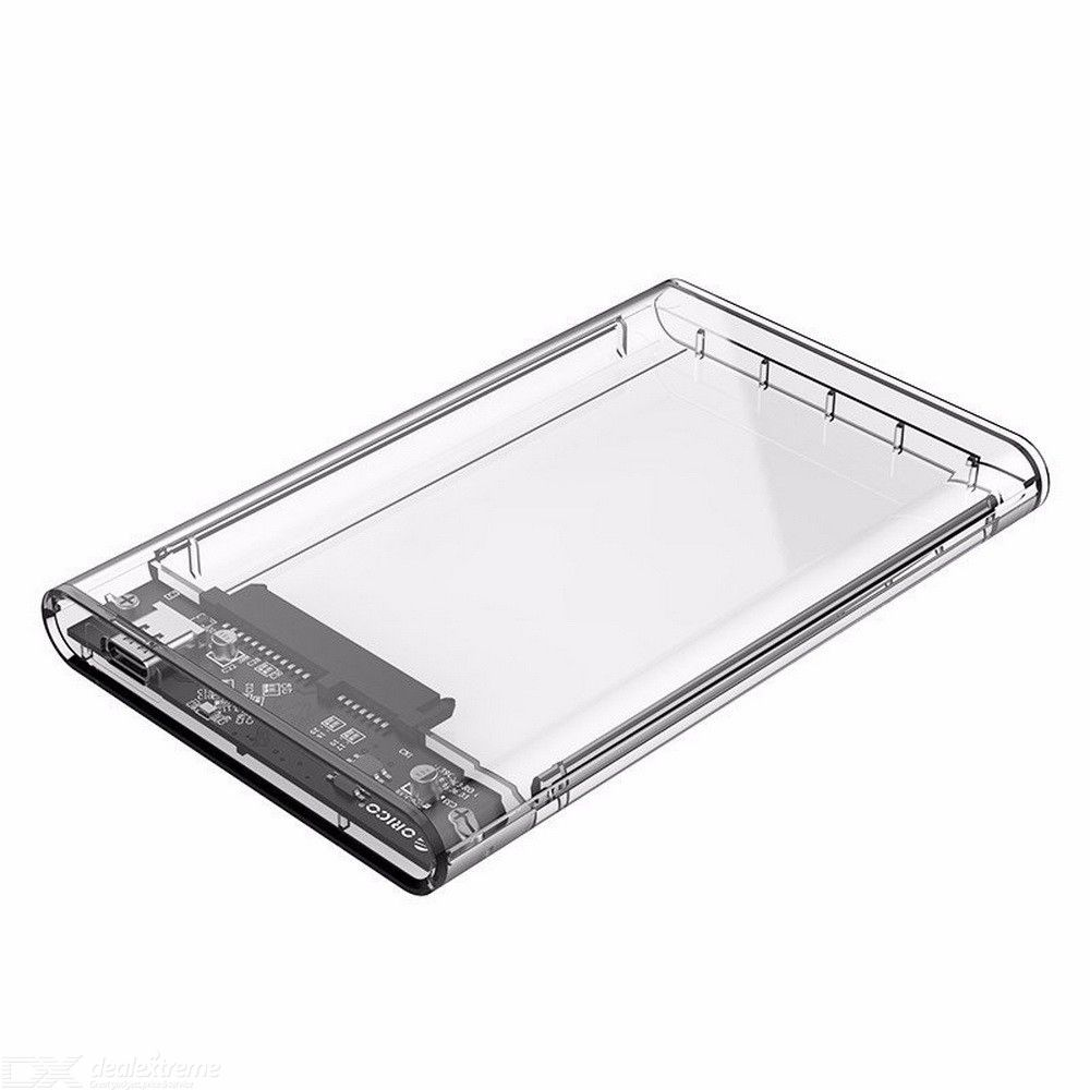 Orico 2.5 Inch Usb C Hard Drive Enclosure Clear Usb 3.1 Gen 1 Type C To Sata Iii External Hard Drive Disk Case Supports Uasp