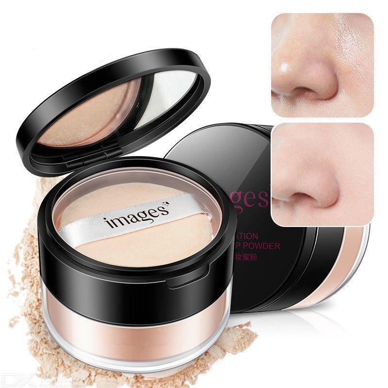 Images Lightweight Long Lasting Loose Face Powder For Setting Makeup Or As Foundation