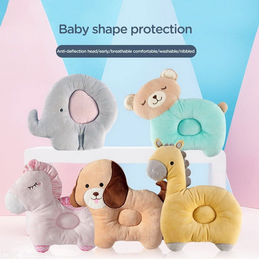 Baby Pillow Flat Head Syndrome Prevention Pillow Cotton Breathable Washable Head Shaping Pillow For Newborns Infants Toddlers