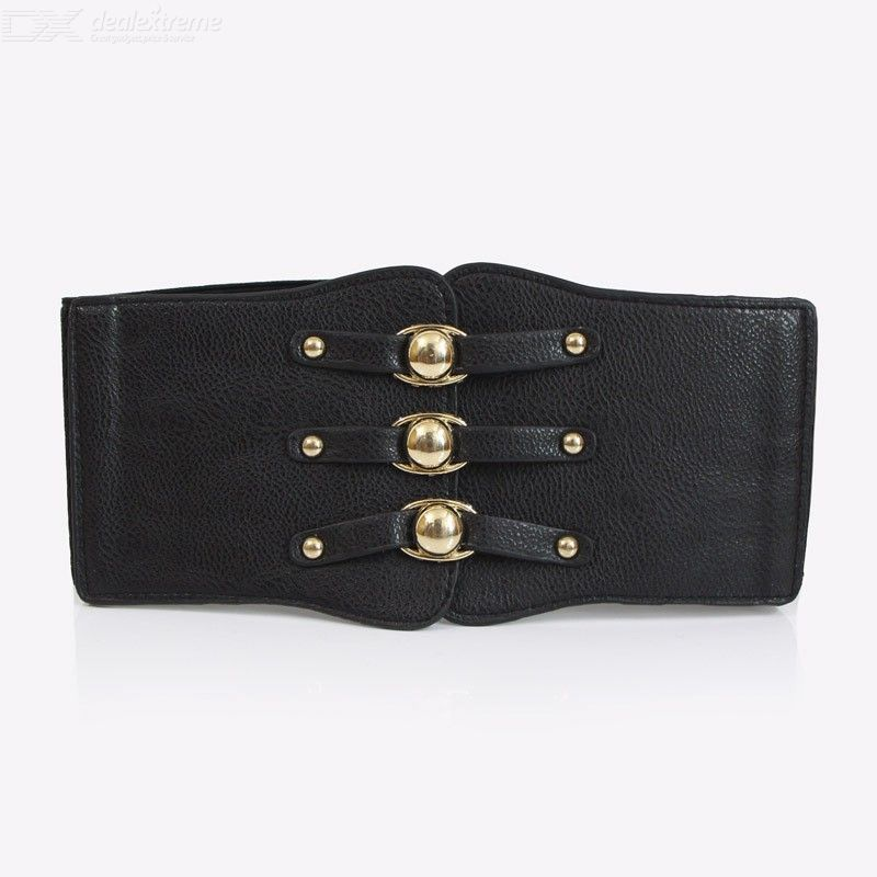 Double-breasted | Vintage | Leather | Corset | Women | Band | Belt