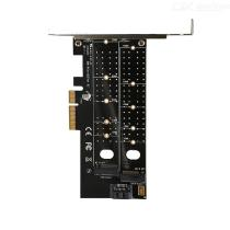 PCIe-to-M2-NVMe-SSD-NGFF-Riser-Card-PCI-Express-to-M-B-Key-SATA-Port-Expansion-Card-Adapter