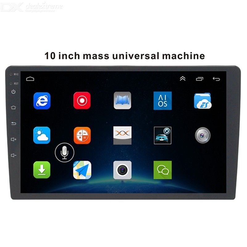 10.1 Inch MP5 Player Android 8.1 Quad-Core Touch Screen WiFi Bluetooth Car 2 Din Radio with 2G RAM 16GB ROM, Free Camera