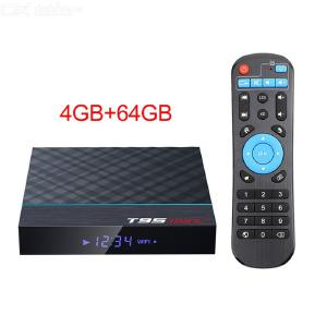 T95 MAX+ Smart Android 9.0 TV BOX Amlogic S905X3 WiFi Set Top Box HD Media Player with 4GB RAM 64GB ROM, Support Youtube