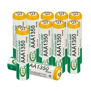 4Pcs 1350mAh AAA Battery 1.2V Ni-MH Low Self Discharge Lasting Power Rechargeable Battery