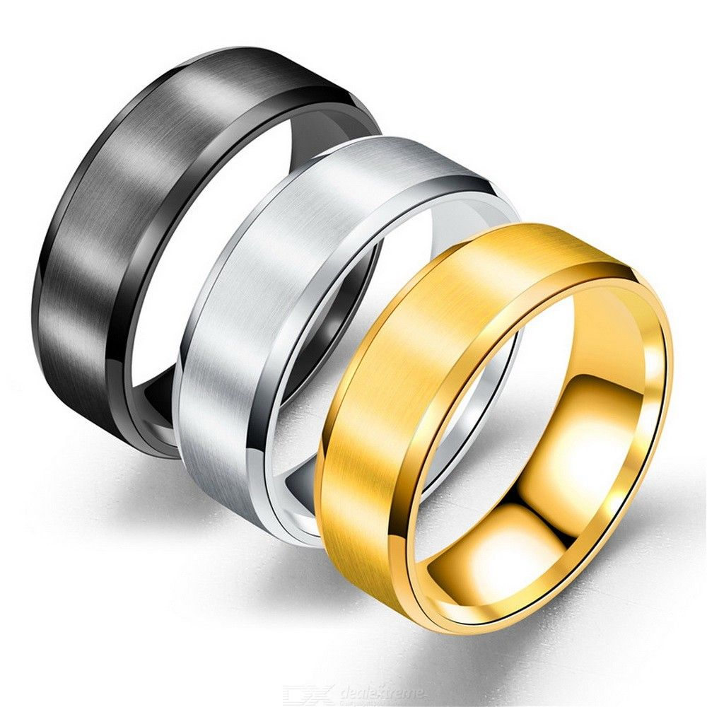 Stylish Titanium Steel Ring Simple Fashion Jewelry For Wine Party