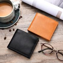 Casual-Male-Genuine-Leather-Wallet-Solid-Color-Business-Card-Bag