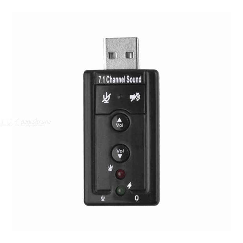 USB To 3D Audio Sound Card Adapter, Support Virtual 7.1 Channel