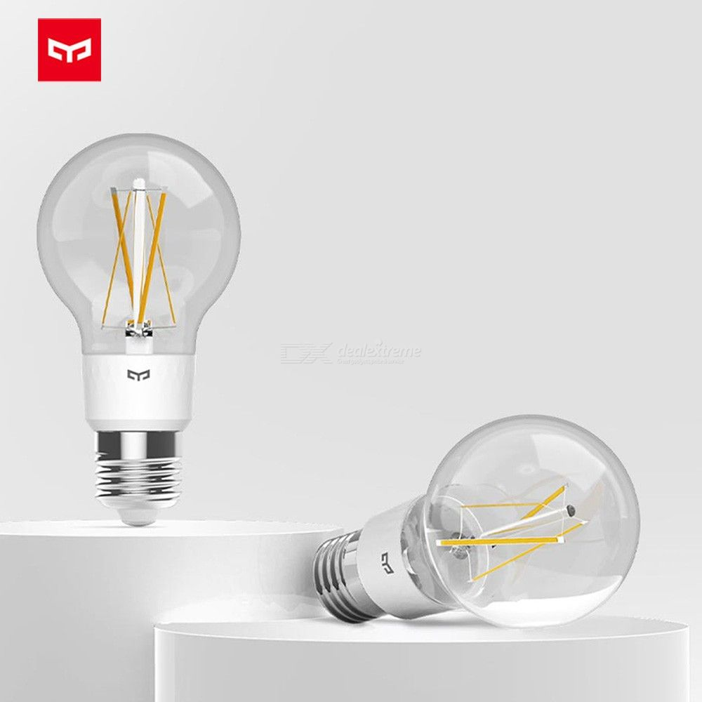 XIAOMI YOUPIN Yeelight WiFi Smart Bulb E27 6W 700LM Dimmable Voice Control APP Remote Control LED Filament Light Bulb