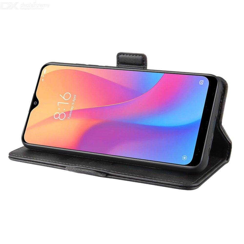 CHUMDIY PU Leather Double Buckle Phone Wallet Case with Stand for Xiaomi Redmi 8A